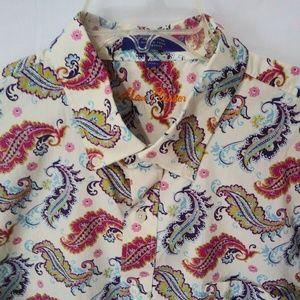 Alan Flusser Paisley Short Sleeve Shirt